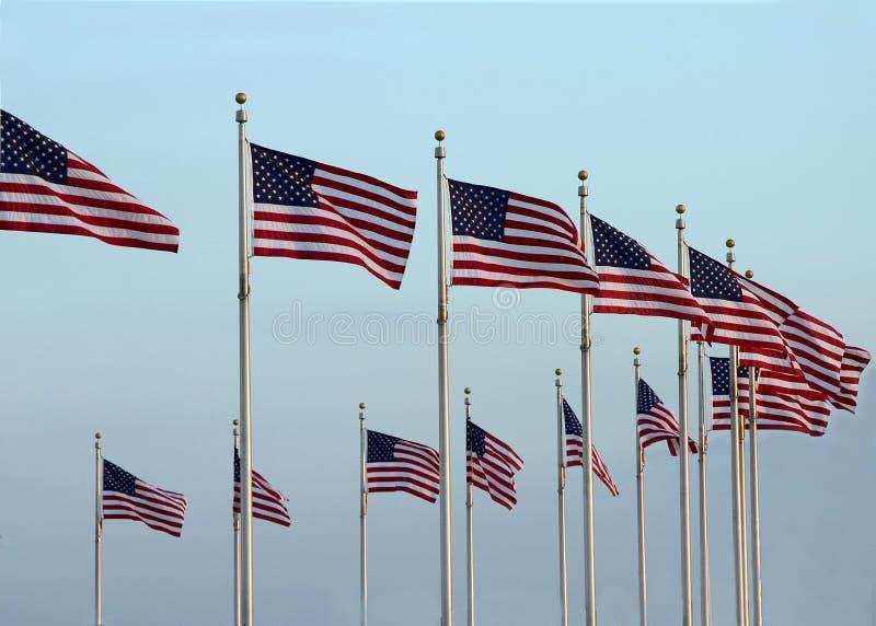 cirkla flaggor arkivfoton