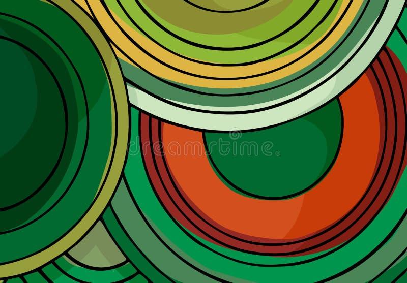 cirklar ändlös ii stock illustrationer