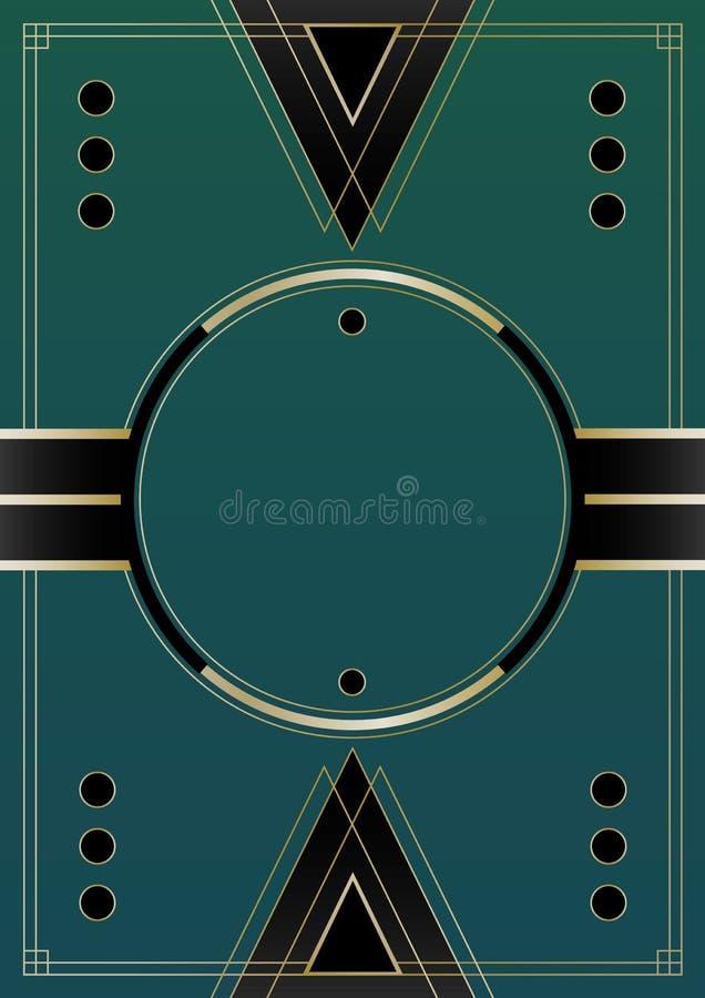 Cirklar Art Deco Background royaltyfri illustrationer