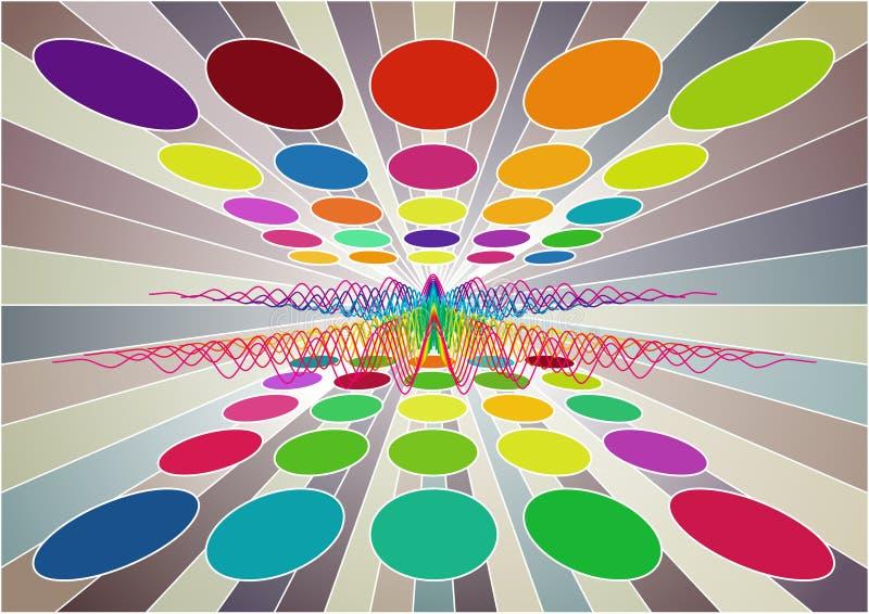 cirklar collorful vektor illustrationer