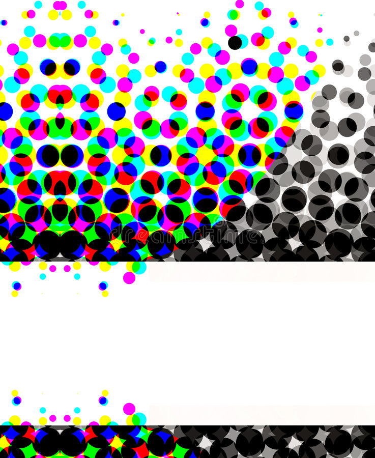 cirklar det färgrika rastret stock illustrationer