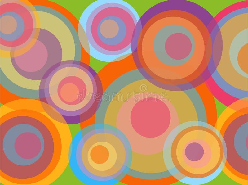 cirklar det psychadelic diskot vektor illustrationer