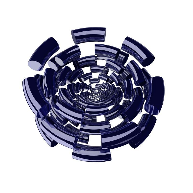 cirklar för 1 fragment vektor illustrationer
