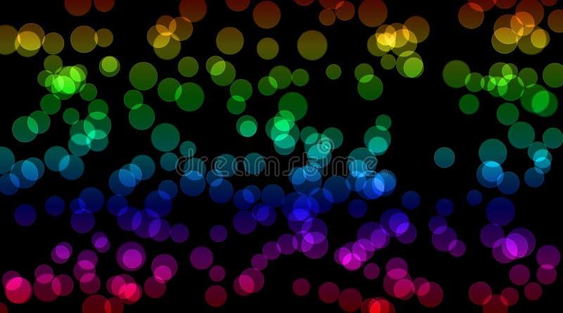 Cirklar för bokeh för abstrakt tapetbakgrund gulnar färgrika grönt blått purpurfärgat rött fotografering för bildbyråer