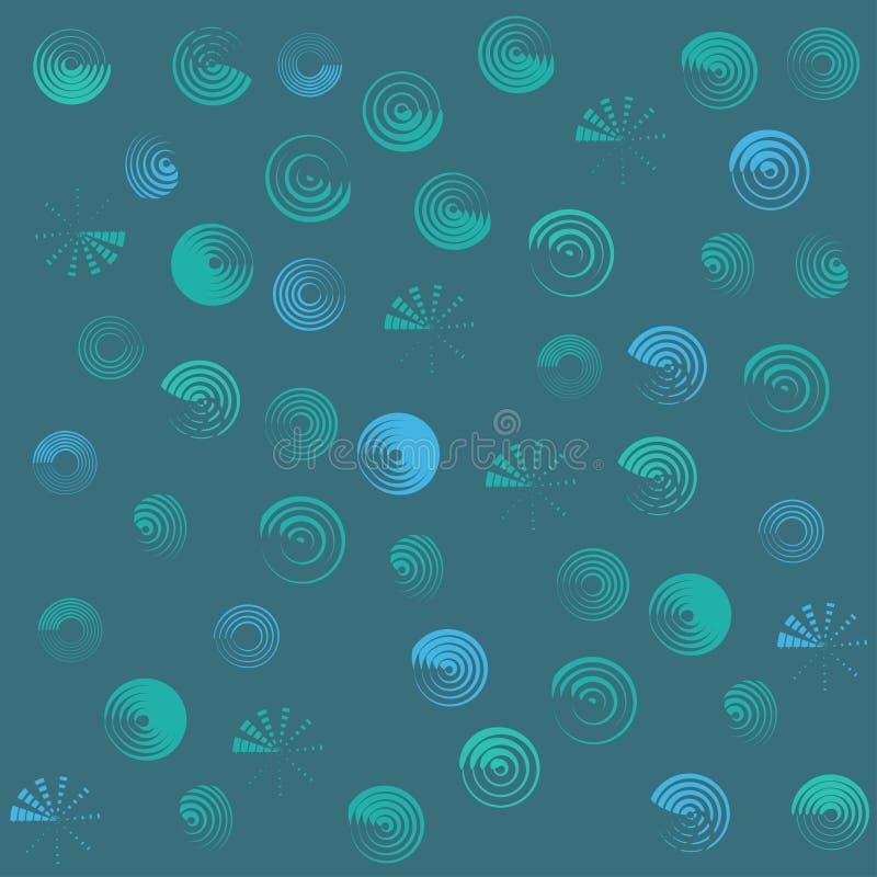 Cirklar gör sammandrag den geometriska formtapeten vektor illustrationer
