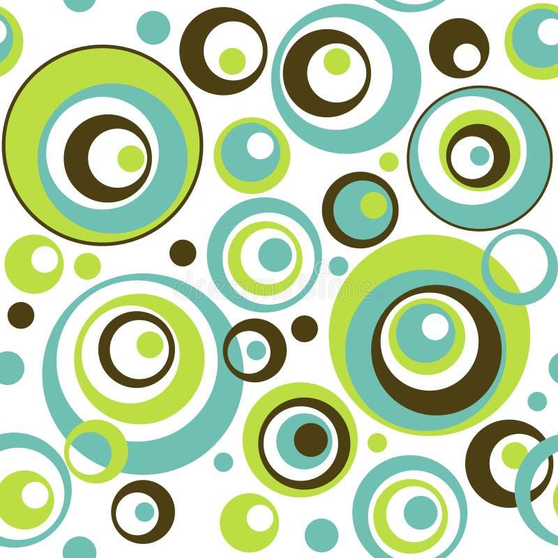 cirklar mönsan den retro seamless wallpaperen royaltyfri illustrationer