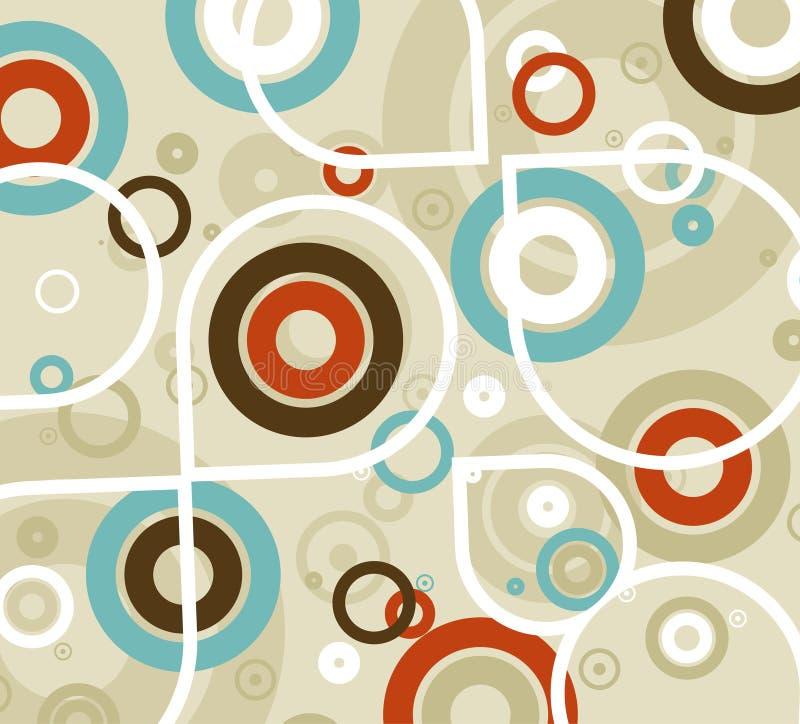 cirklar mönsan seamless stock illustrationer