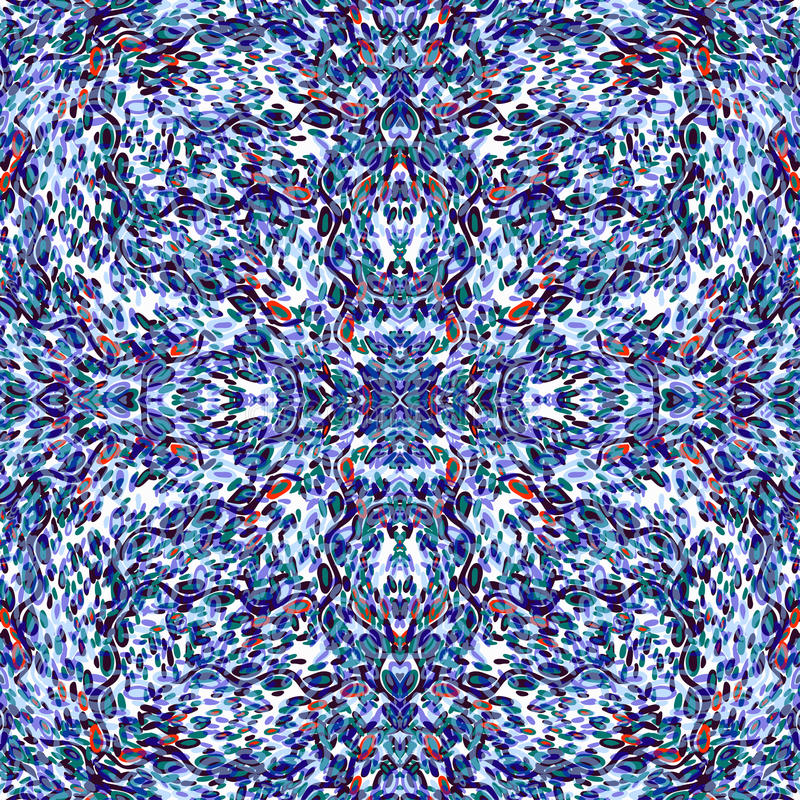 Cirklar och linjer färgrik sömlös vektor för abstrakta objekt mönstrar härlig bakgrund royaltyfri illustrationer