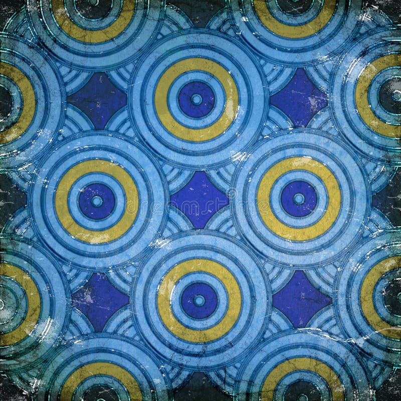 Cirklar på väggen arkivbilder