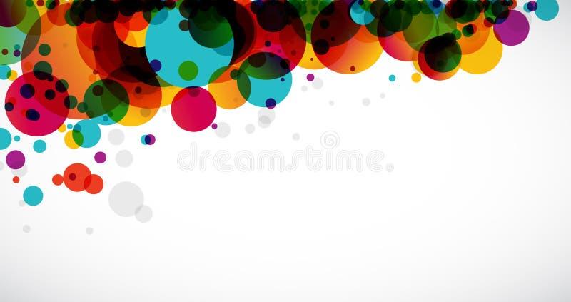 cirklar regnbågen stock illustrationer