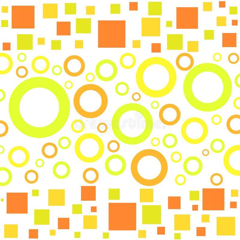cirklar skraj fyrkanter vektor illustrationer