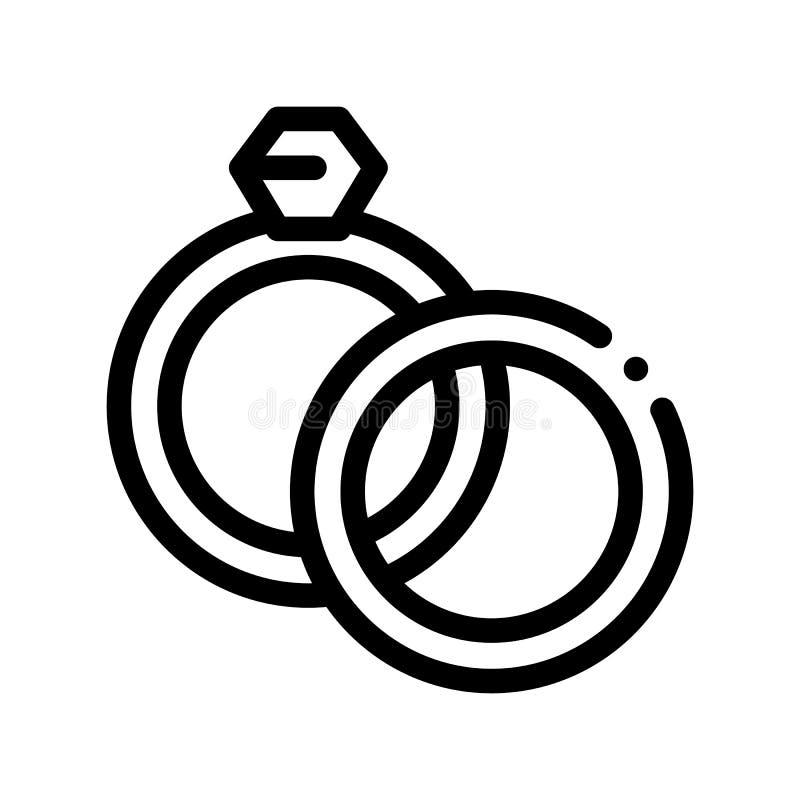 Cirklar specificerar för symbol för vektor för bröllopceremoni stock illustrationer