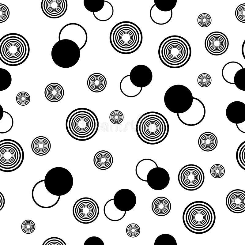 Cirklar svartvitt stock illustrationer