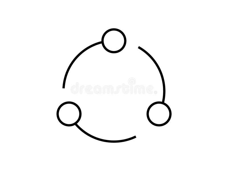 Cirkuläret återanvänder symbolvektorn royaltyfri illustrationer