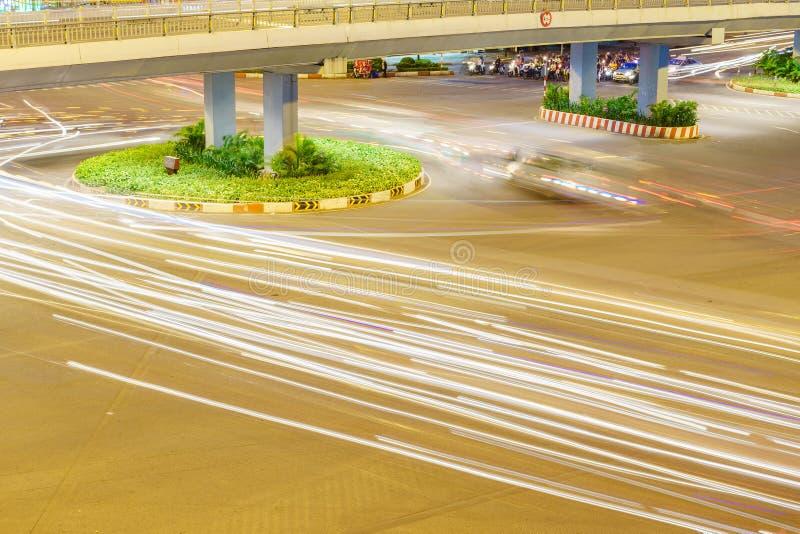 Cirkulation med medlet på den Hang Xanh genomskärningsflygparaden, Saigon, Vietnam royaltyfri fotografi
