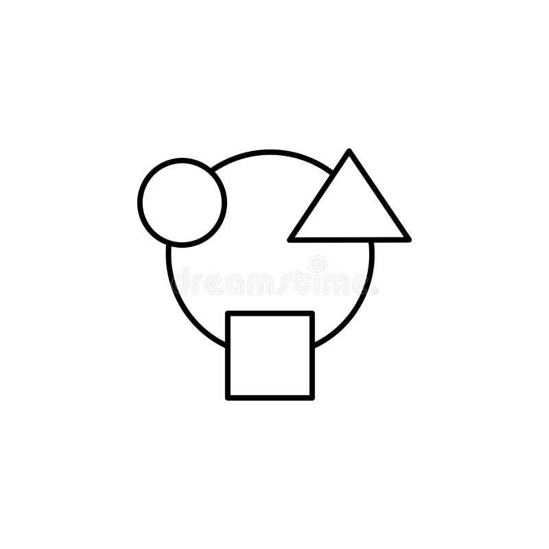Cirkulation sammanslutning, mångfald, integration, rekvisitasymbol Beståndsdel av pengardifferentieringillustrationen Tecken och  stock illustrationer