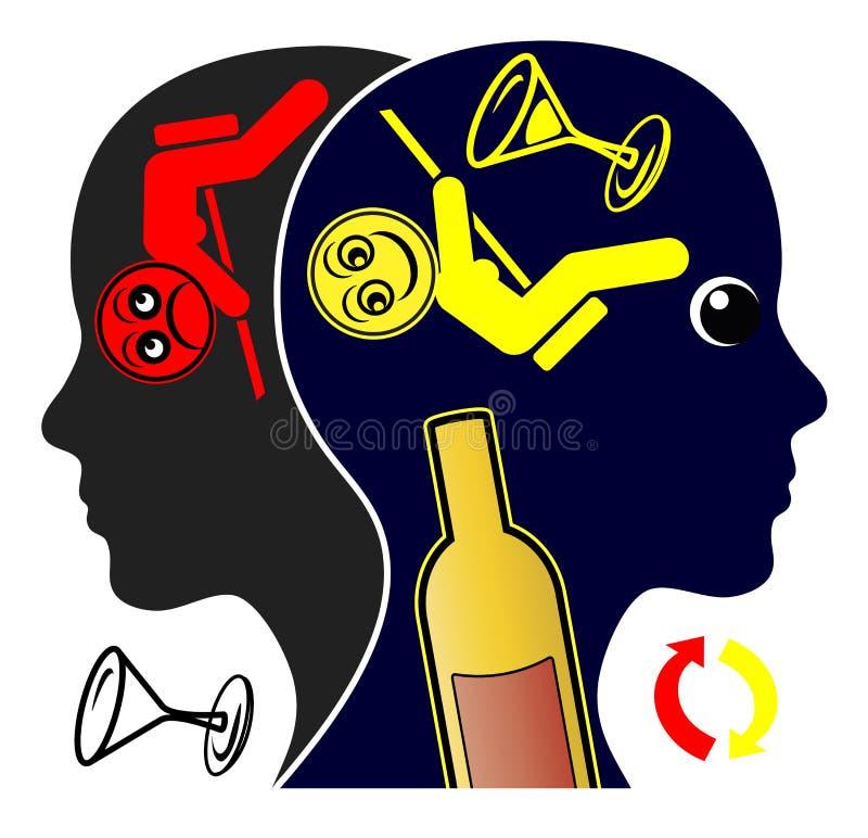Cirkulering av alkoholböjelse vektor illustrationer