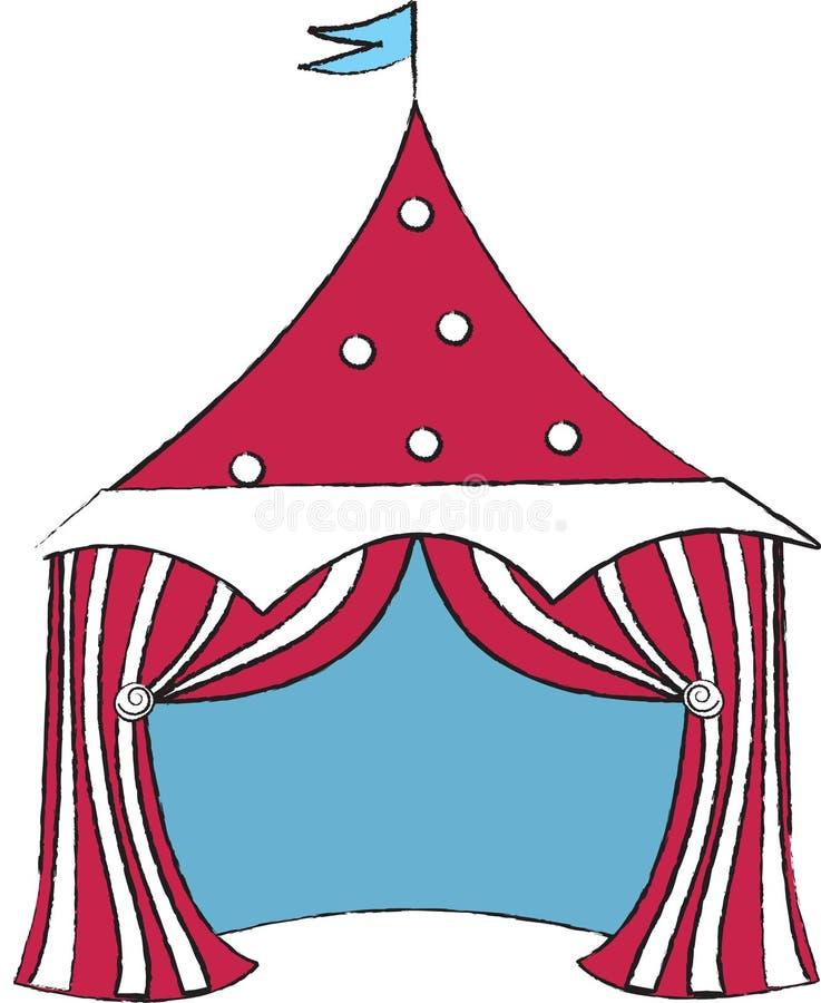 cirkus royaltyfri illustrationer