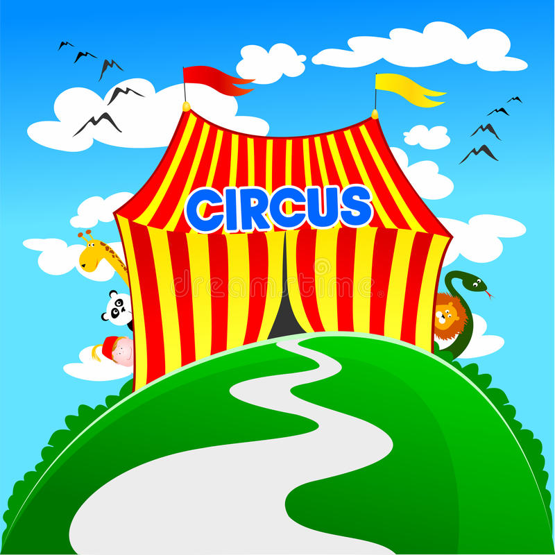 cirkus royaltyfri illustrationer