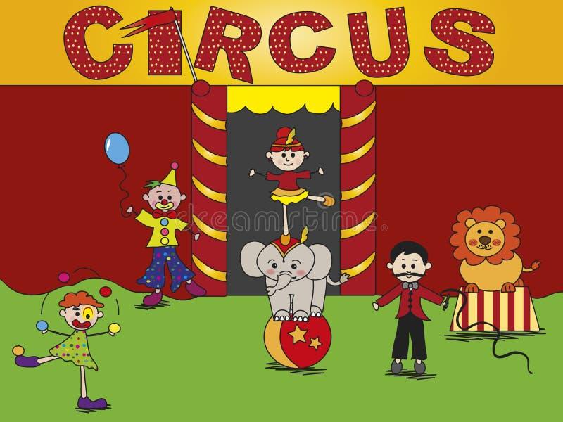 Cirkus stock illustrationer