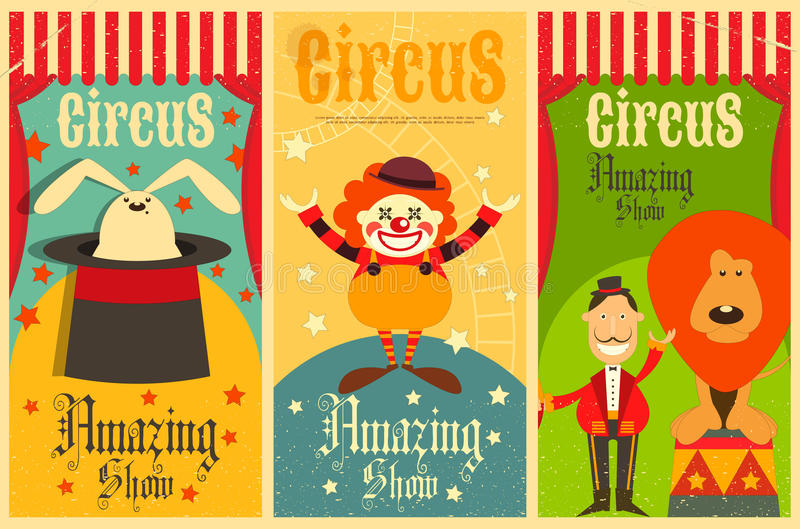 cirkus stock illustrationer