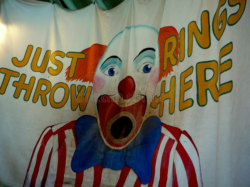 Cirkus eller karusell Ring Toss royaltyfri foto