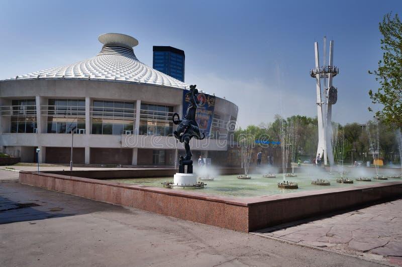 Cirkus i Almaty royaltyfri fotografi