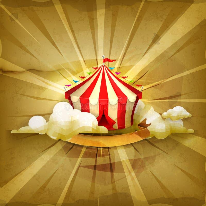 Cirkus vektorbakgrund stock illustrationer