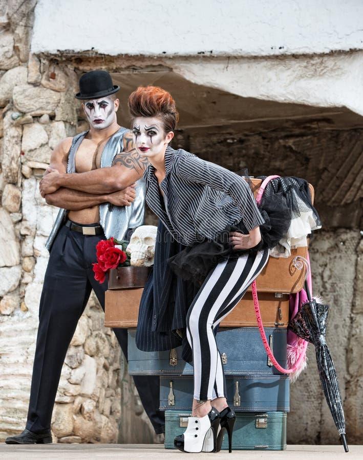 Cirkusartist för höga häl royaltyfria bilder