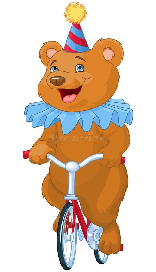 Cirkusbjörn stock illustrationer
