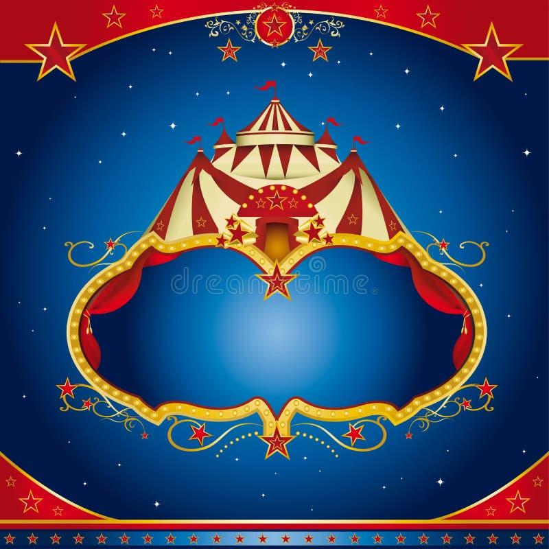 cirkusbroschyrmagi royaltyfri illustrationer