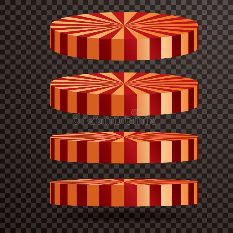 Cirkuscirkeletapp stock illustrationer