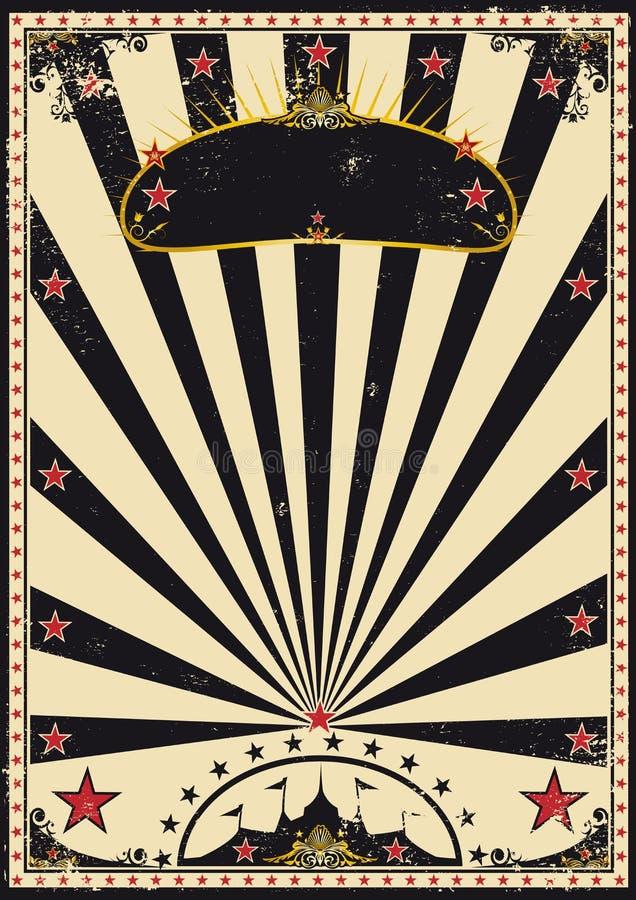 cirkusdark royaltyfri illustrationer