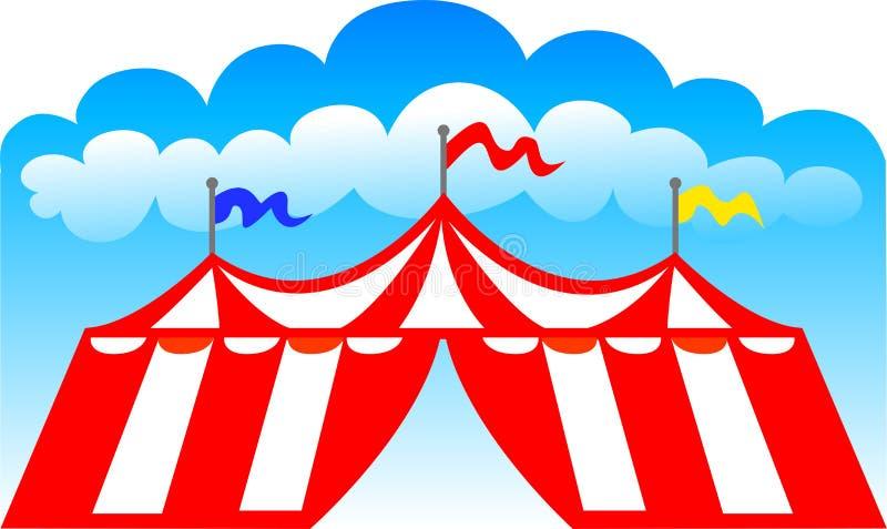 cirkuseps-tent vektor illustrationer