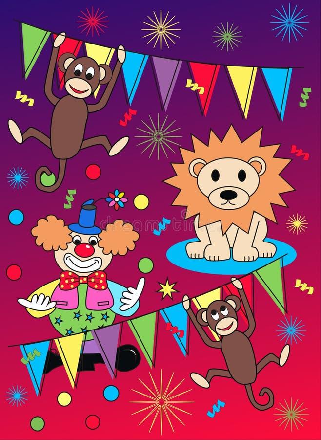 cirkusmodell royaltyfri illustrationer
