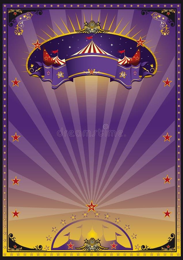 cirkuspurple stock illustrationer