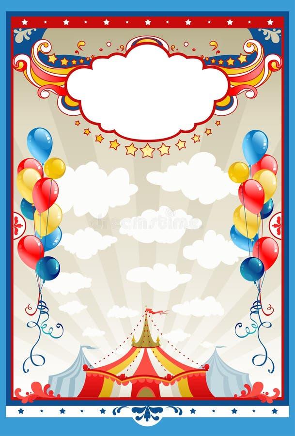 cirkusram vektor illustrationer