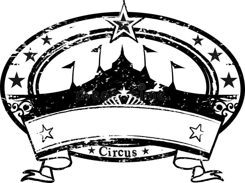 cirkusstämpel royaltyfri illustrationer