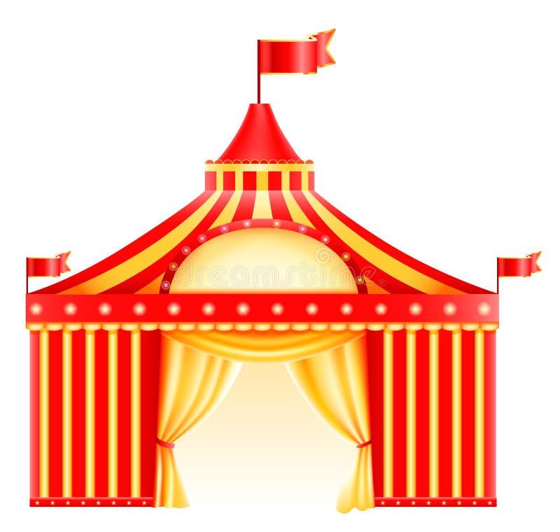cirkussymbol royaltyfri illustrationer