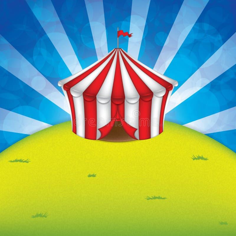 Cirkustält royaltyfri illustrationer