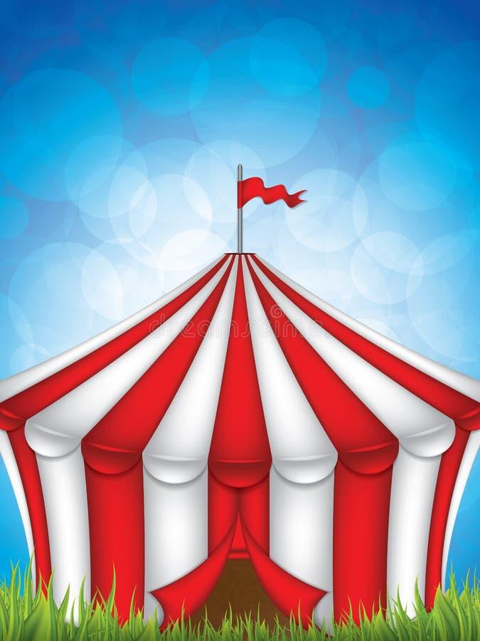 Cirkustält stock illustrationer