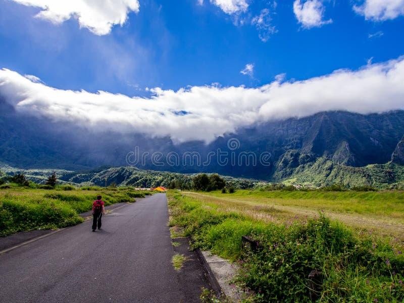 Cirque de Cilaos in La Reunion island. Cirque de Cilaos in La Reunion tropical French island stock images