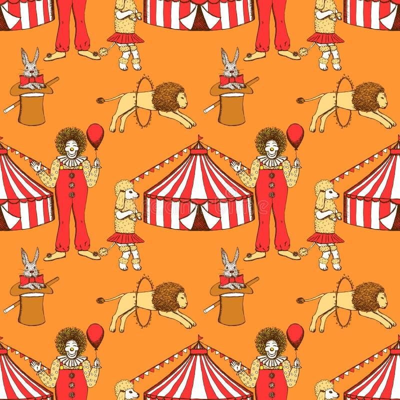 Cirque de croquis dans le style de vintage illustration de vecteur