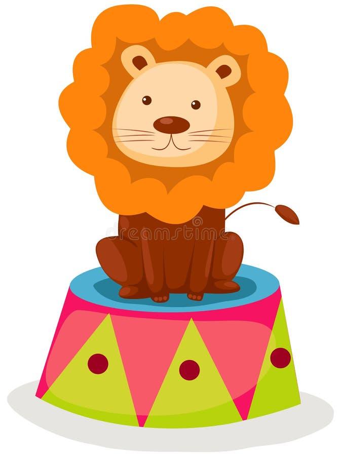 Cirque de lion illustration de vecteur