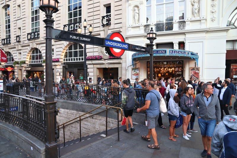 Cirque de Londres Piccadilly photos stock