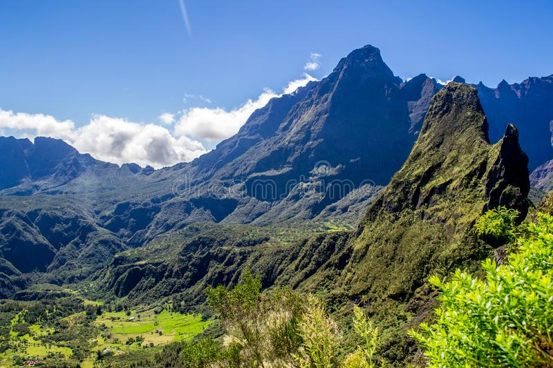 Cirque de Mafate en La Reunion Island photographie stock