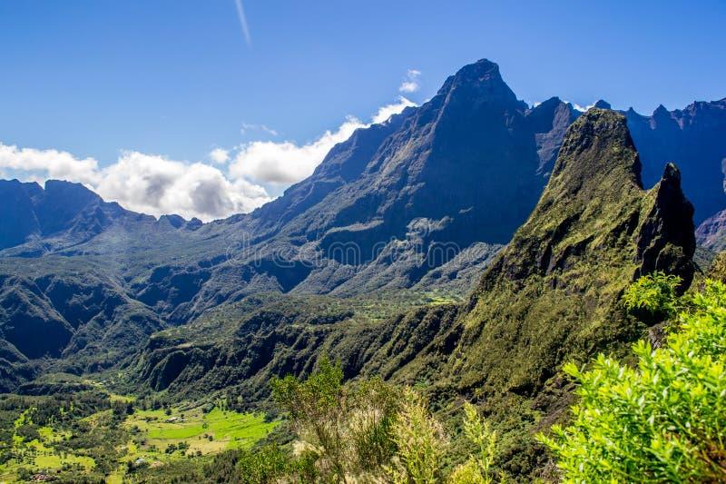Cirque de Mafate in La Reunion Island fotografia stock