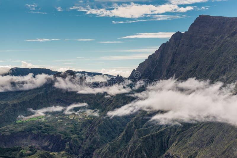 Cirque de Mafate - Reunion Island, França fotos de stock royalty free