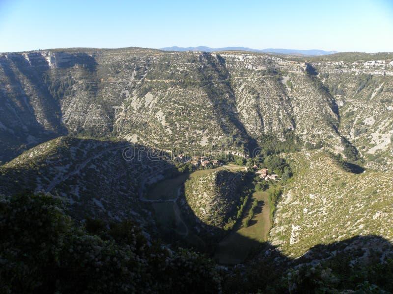 Cirque de navacelles, долина во Франции стоковые изображения rf
