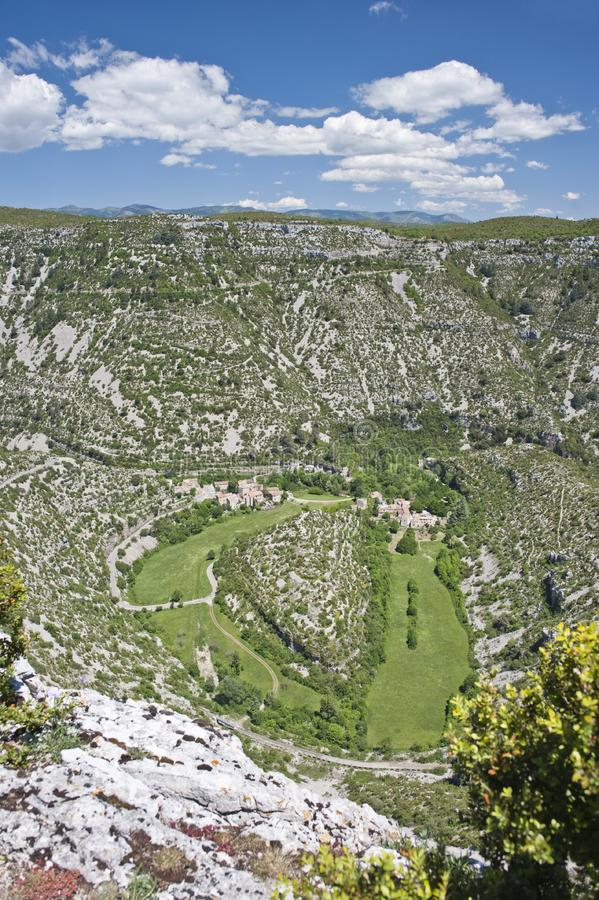 Cirque de Navacelles royalty free stock photography